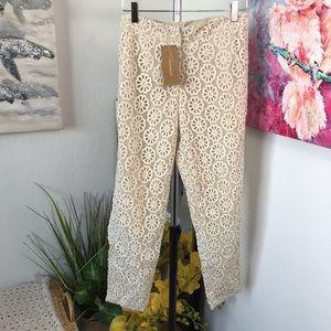 Francesca's Lace Ankle Length Pants
